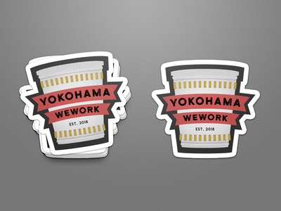 WeWork Design Exercise Sticker / Cup Noodle