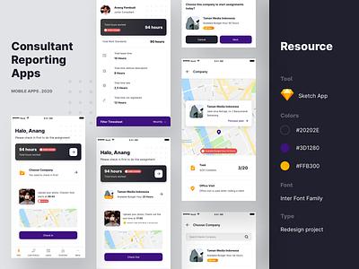 Consultant Reporting Apps - Redesign uiuxdesign apps redesign consultant reporting reportingapps uiux uxdesign uidesign mobileapps