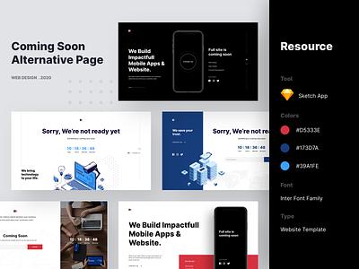 Coming Soon - Alternative Page uiuxdesign uxdesign uidesign uiux coming soon template coming soon page coming soon comingsoon webdesign website