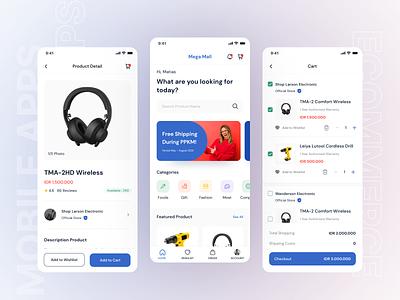 E-Commerce App [Freebies] shopping ecommerce apps uiux exploration mobile apps ui
