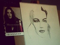 Liv Tyler inspired drawing in progress...