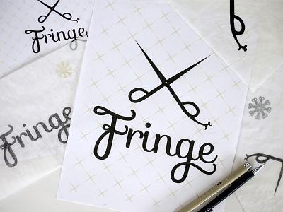 Fringe pattern branding illustration design type