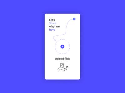 Upload Screen - Mobile UI