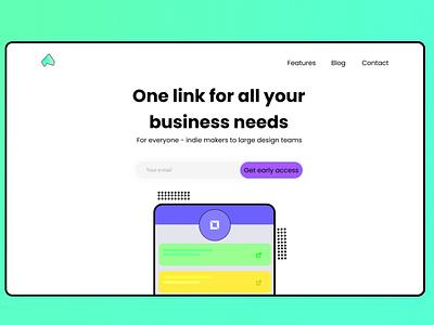 Acelink - One link for all your links website ux ui  ux vector branding design illustration