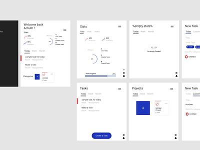 Projects management app web vector typography design branding art