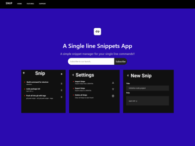 Snip - a simple single line snippet manager
