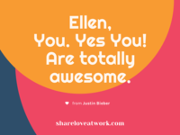 Ellen Degeneres & Justin Bieber | Show Love At Work