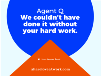 James Bond & Q | Share Love At Work