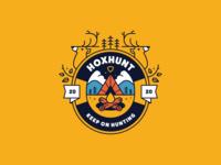 Hoxhunt Summer Camp flat badge bonfire deer camp