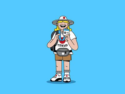 Summer Olympics characters summer olympics tokyo running mascot tourist hurdles track and field summer games olympics tokyo2020 illustration