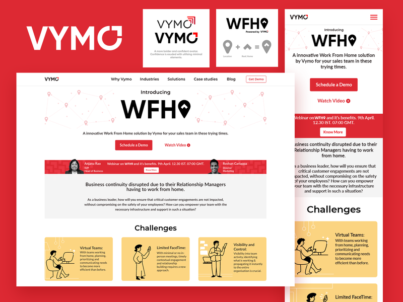 VYMO proposed redesign branding logo responsive web design web