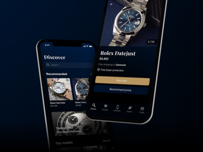 Chrono24 dark mode app redesign