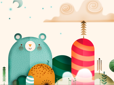 Little Bear illustration little bear digital illustration illustration