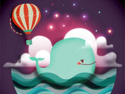 Little Whale vector illustration little whale whale illustration digital illustration illustration