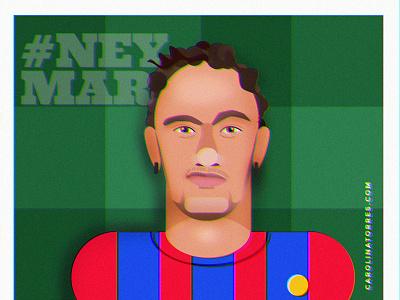 Neymar Jr seleção brasileira de futebol seleção futbol soccer flat illustration flat fcbarcelona illustrator digital illustration illustration neymarjr neymar