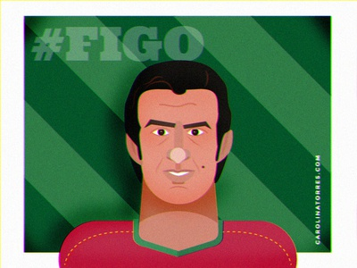 Luís Figo illustration luis figo vector illustration flat illustration digital illustration illustration