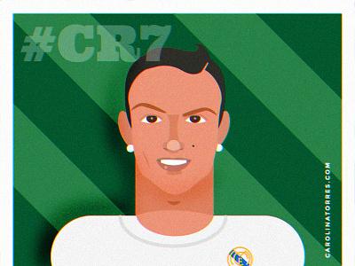 Cristiano Ronaldo Illustration flat illustration cristiano ronaldo digital illustration soccer illustration illustration