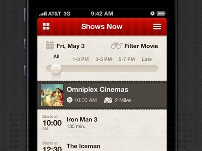 Movie App - iOS/iPhone app ui interface i2fly design india bangalore treevivek vivek android ios mobile iphone application movie cinemas shows ux gui