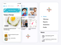 Healthy Tiffin app cooking recipe clean minimal application android iphone ios health india design ux ui app mobile i2fly