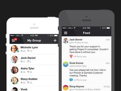 Feed feed home ui iphone app gui user interface ios