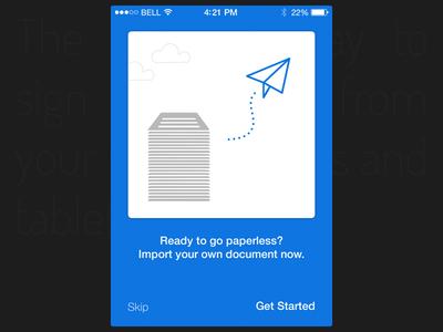 Get Started - walkthrough ios ui ux mobile walkthrough iphone coachmarks tutorial slide show green