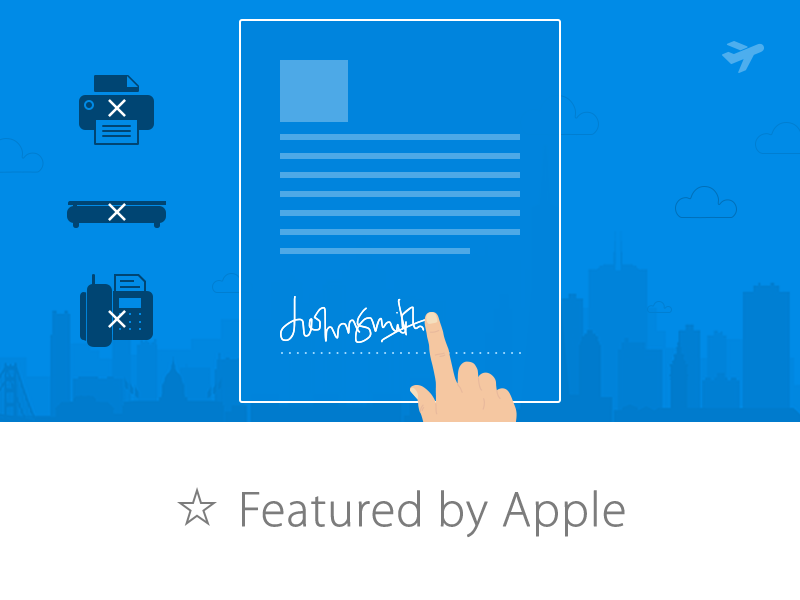 SignEasy for iOS 7 iphone ios ui ux mobile apple featured itunes sign documents app green