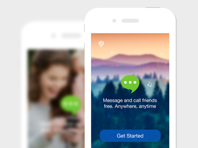 Login launch register sign in message call ui iphone app ios ios7 chat login