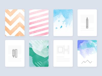Custom Cover ipad test water colour pattern simple ux ui custom cover minimal ios app
