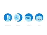 Icons - Smart buildings IoT platform icon set iconography app web illustration i2fly platform product ux ui icon
