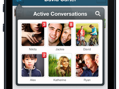 Active Conversation - iOS/iPhone ios messenger application iphone mobile chat vivek treevivek bangalore india design i2fly interface ui app notification