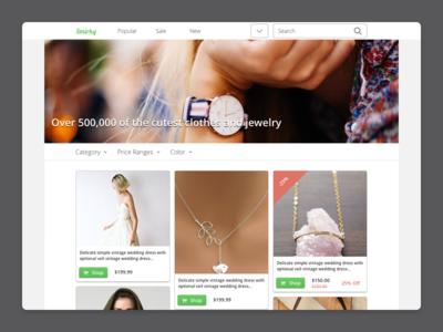 Fashion Homepage  tiles ecommerce fashion shopping responsive web