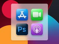 Apple iOS  Icons design ui colour digital design liverpooldesigner icon podcast photoshop apple app store ios 14