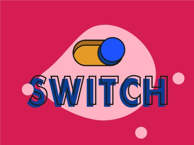 SWITCH liverpooldesigner vector ul outline yellow red blue button graphic colour illustration art 2d design toggle switch