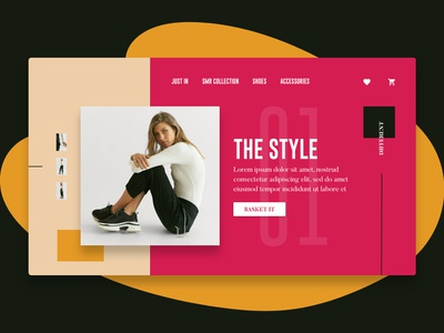 The Style ui cleanui layout photography simple clean mordern style blobdesign fashion shoes liverpooldesigner graphicdesign onlineshopping shopping design daily design digest colourful uldesign ecommerce
