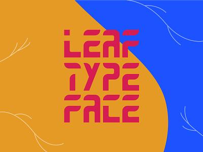 Leaf Type Face blue red colourfull font leaf liverpooldesigner fontdesign graphic  design font design typography
