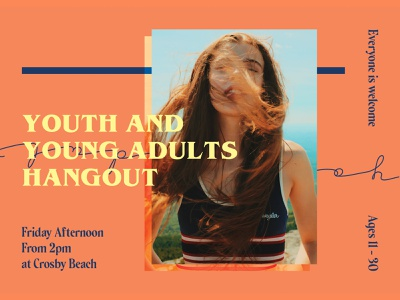 Youth & Young Adults Hangout liverpool designer serif design solid background dessin yellow design orange design colour palette young adults youth design