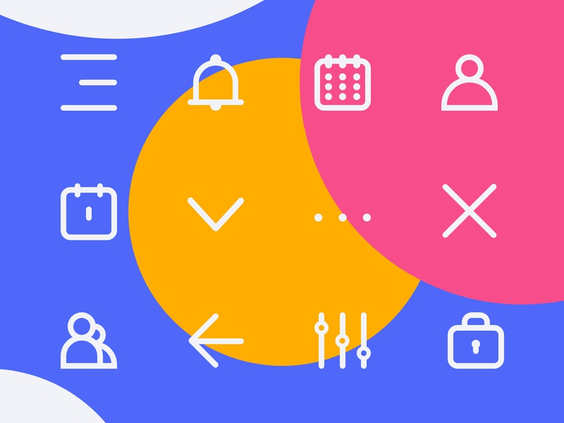 Cleans Custom Icons menu icon bell icon notification icon avatar icons calendar icon colour icons icon for app circle design app icon digital design graphicdesign design vector blue cleanui liverpooldesigner liverpool icons design icon