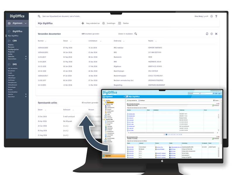 UI Redesign for DigiOffice mockup digioffice ux app web design ui