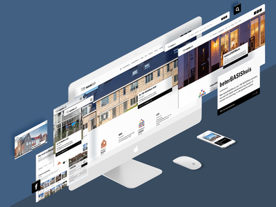Corporate webdesign for real estate company