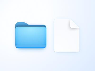 Folder & Paper icon folder icon paper folder app macos icon bigsur macos