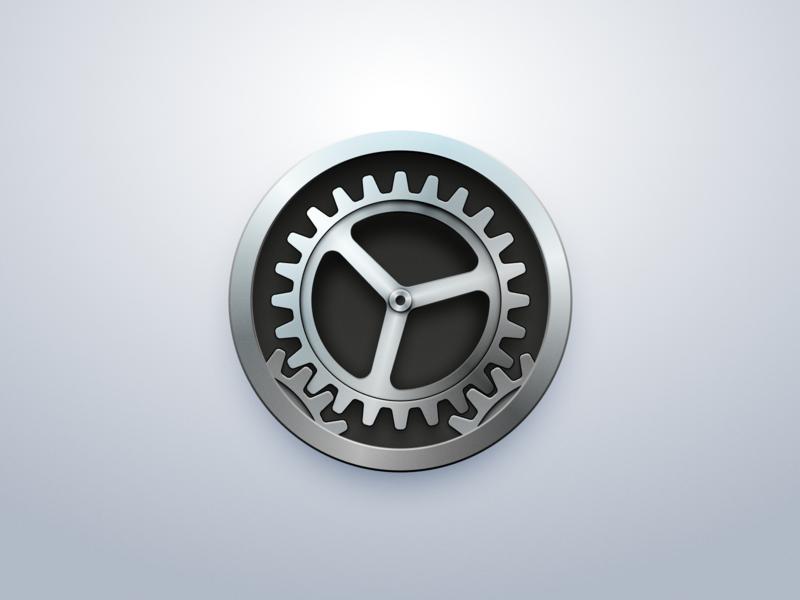 Settings icon cog settings bigsur macos