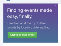 Finding events made easy.