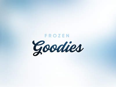 Frozen Goodies! giveaway blue frozen ice typography logo
