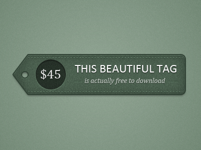 Detailed price tag price tag texture stitching psd download