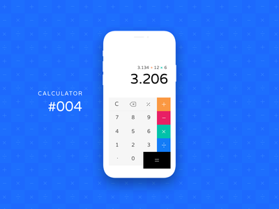 Daily UI #004 calculadora maths calculator ui daily