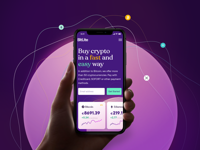 Crypto trading platform mobile UI design mobile ui web website webdesign ui ux design web design interface purple crypto cryptocurrency trading bitcoin homepage header ripple etherium mobile