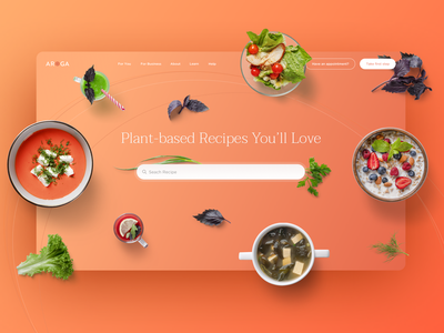 More UI for Lifestyle Medicine Website pricing recipes landing header ux design nutrition lifestyle medicine food webdesign web design website web ui