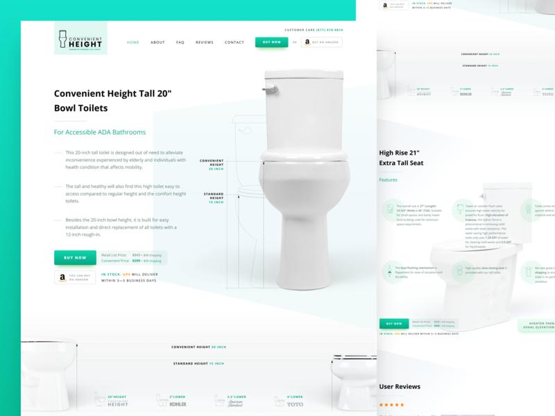 Convenient Height website web design blue green white web webdesign website