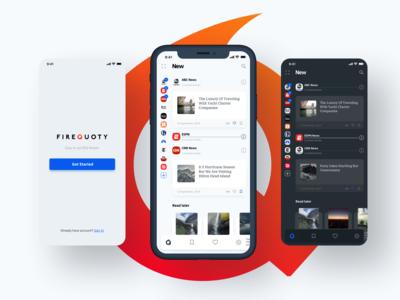 FireQuoty RSS IOS App