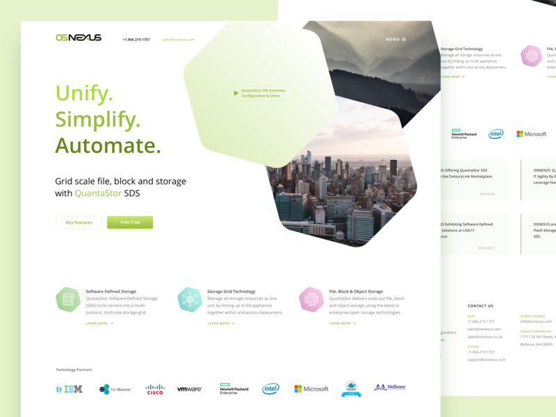 Os Nexus Conception ux ui design website web design webdesign web conception